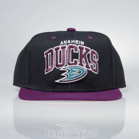 Snapback kšiltovka Mitchell & Ness Anaheim Ducks Team Arch black / purple 950 Kč