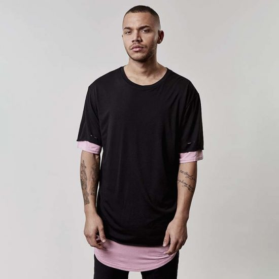 Triko Cayler & Sons Deuces Long Layer Tee black CSBL 1195 Kč