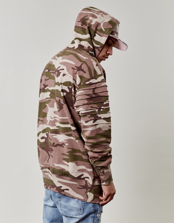 Mikina Cayler & Sons Pleated Loose Fit Hoody Multicolor Skladem