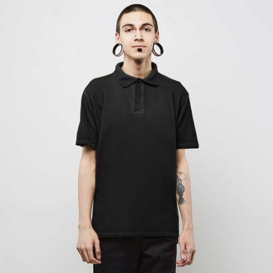 Triko Backyard Cartel Combat Polo Shirt Washed Black 1215 Kč