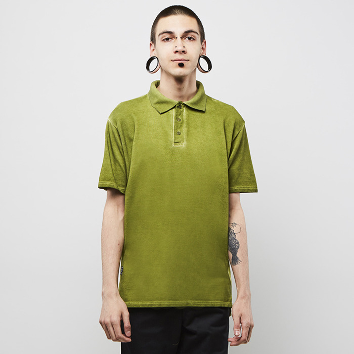 Triko Backyard Cartel Combat Polo Shirt Washed Khaki 1215 Kč