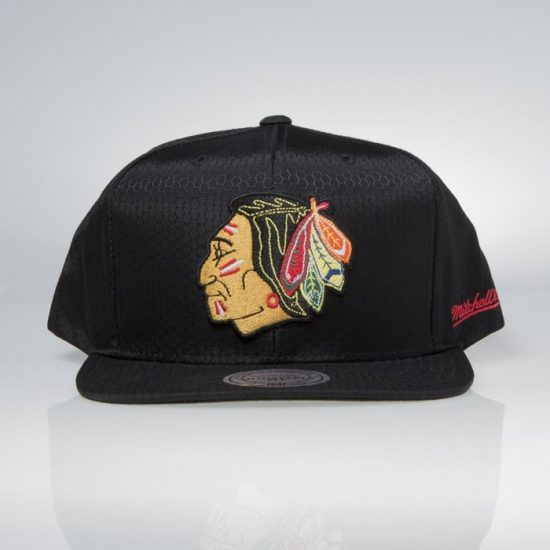 Snapback kšiltovka Mitchell & Ness Chicago Blackhawks Black Ripstop Honeycomb 895 Kč