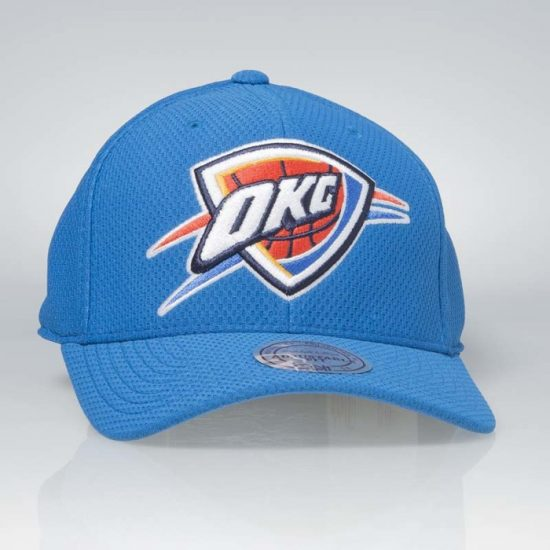 Kšiltovka Mitchell & Ness Oklahoma City Thunders Hexagon Jersey Mesh Hook and Loop 745 Kč