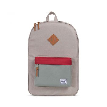 Batoh Herschel Supply Heritage Backpack Light Khaki Crosshatch/Shadow/Brick Red/Tan 1785Kč